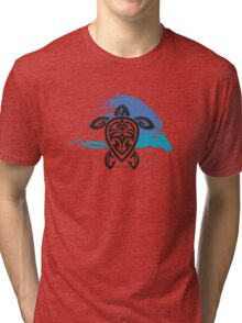 Tribal Turtle Maui Tri-blend T-Shirt