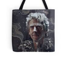 Twelfth Doctor–feathers and snow Tote Bag