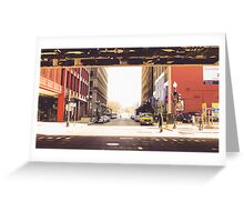 Between Two Urban Passageways Greeting Card