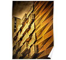 Modern Melbourne Building Shapes Poster