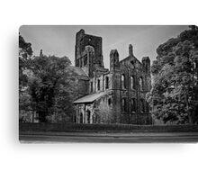 Kirkstall Abbey (B&W) Canvas Print