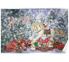 Holiday Rocking horse and toys..... Poster