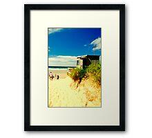 A day on the beach Framed Print