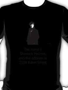 Sherlock Holmes, 221B Baker Street.  T-Shirt