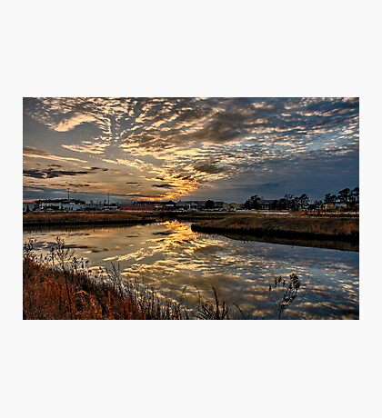 Frontal Clouds At Sunset Photographic Print