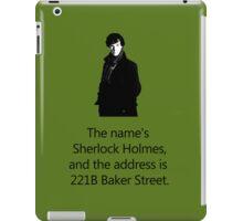 Sherlock Holmes, 221B Baker Street.  iPad Case/Skin