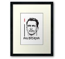 I LOVE AUSTRIA T-shirt Framed Print