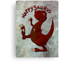 A very happy dinosaur Canvas Print