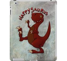 A very happy dinosaur iPad Case/Skin