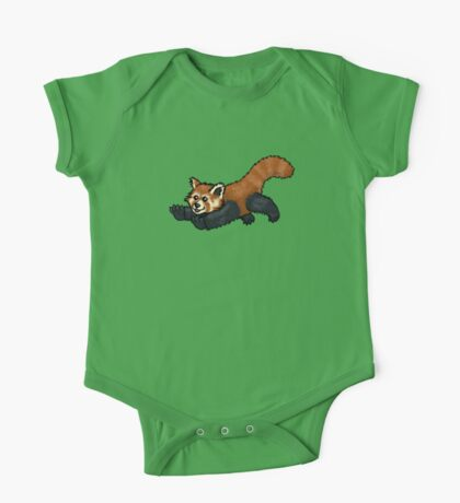 Red Panda leaping One Piece - Short Sleeve
