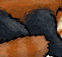 Red Panda sleeping Sticker