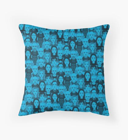 Breaking Bad Characters - Blue Throw Pillow