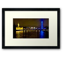 The London Skyline New Years Eve 2012 - HDR Framed Print