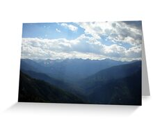 Mountain Top View from Moro Rock Greeting Card