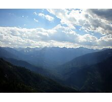 Mountain Top View from Moro Rock Photographic Print