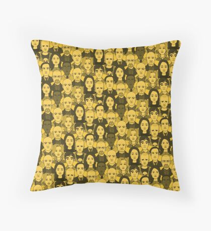 Breaking Bad Characters - Yellow Throw Pillow