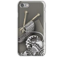 Knitting Noodle Doodle Art iPhone Case/Skin