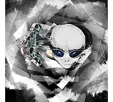 Alien and Astronaut Graphic Photographic Print