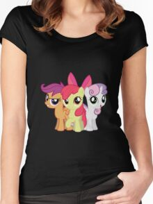 My Little Pony: Cutie Mark Crusaders Women's Fitted Scoop T-Shirt