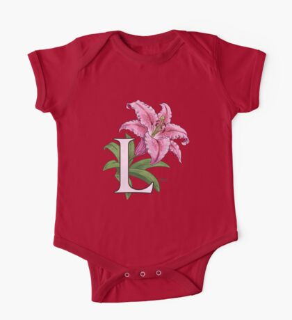 L is for Lily - full image shirt One Piece - Short Sleeve