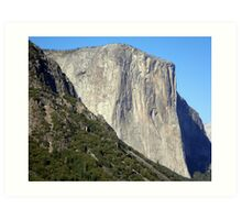 Sheer Rock Face of El Capitan  Art Print