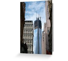 One World Trade Center rising Greeting Card
