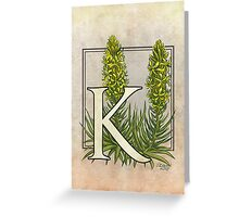 K is for King's Spear card Greeting Card