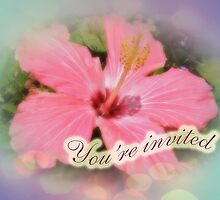 Party Invitation - Pink Hibiscus by MotherNature
