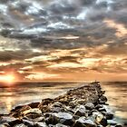 The jetties In Ponce Inlet by Brent Craft