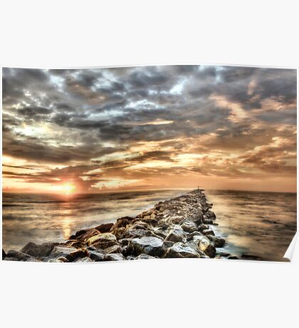 The jetties In Ponce Inlet Poster