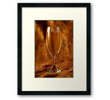 Still Life - Champagne & Gold Framed Print