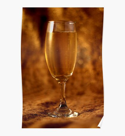 Still Life - Champagne & Gold Poster