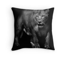 Portrait of a Lioness Throw Pillow