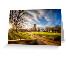 Sunset At Derby Cathedral Park Greeting Card
