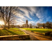 Sunset At Derby Cathedral Park Photographic Print