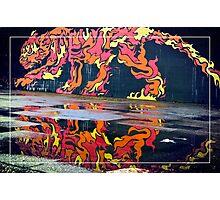 Clydeside Tiger Graffiti Photographic Print