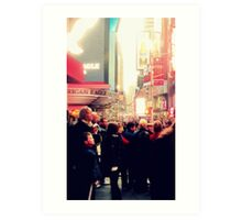 Times Square for the First Time Art Print