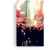 Times Square for the First Time Canvas Print