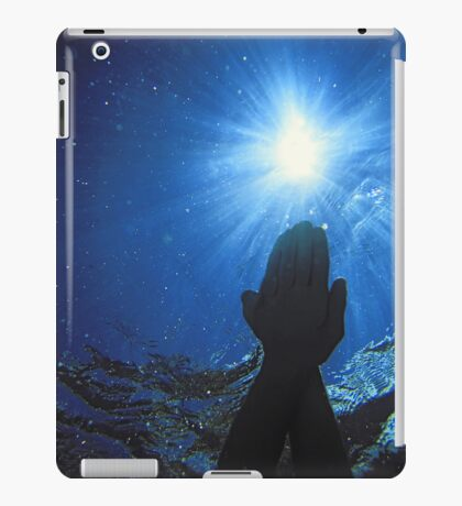 Swimming hands under water into Sun iPad Case/Skin