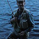 My friend fly fisherman . Sweden 2014. by © Andrzej Goszcz,M.D. Ph.D