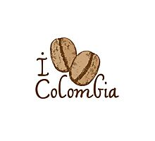 I LOVE COLOMBIA T-shirt Photographic Print