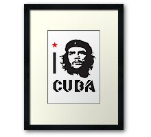 I LOVE CUBA T-shirt Framed Print