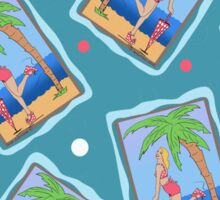 Beach Girl Sticker
