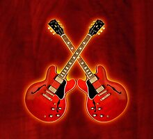 gibson es 335 red  v2 art by goodmusic