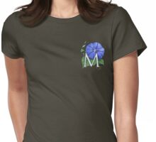 M is for Morning Glory - patch shirt Womens Fitted T-Shirt