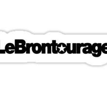 LeBrontourage│Black Sticker
