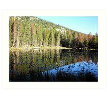 Mirror Lake at Rocky Mountain National Park Art Print