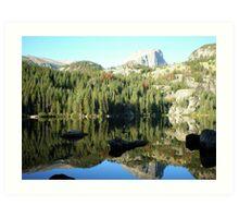 Spectacular Mirror Lake at Rocky National Park Art Print