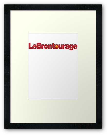 LeBrontourage│Red & Gold by JoeIbraham