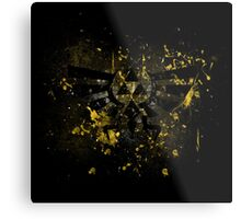 Triforce paint splatters Metal Print